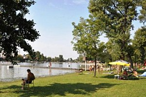 Gänsehäufel an der Alten Donau